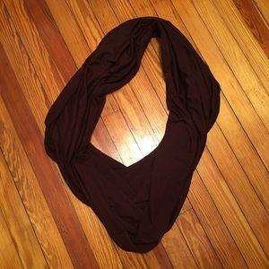 American Apparel maroon circle jersey scarf